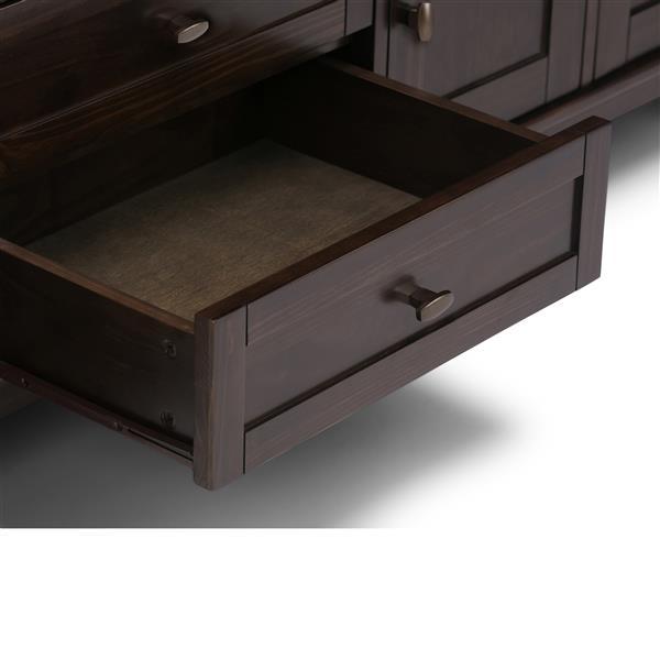 Simpli home meuble de t l vision warm shaker brun tabac axwsh003 72 tb rona - Meuble shaker ...