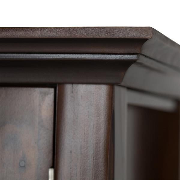 """Armoire de rangement Acadian, 35"""" x 15,5"""" x 36"""", brun"""