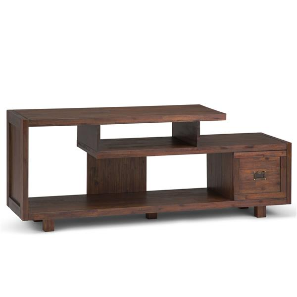 Simpli Home Monroe TV Media Stand - 60-in x 15.4-in x 24-in - Brown