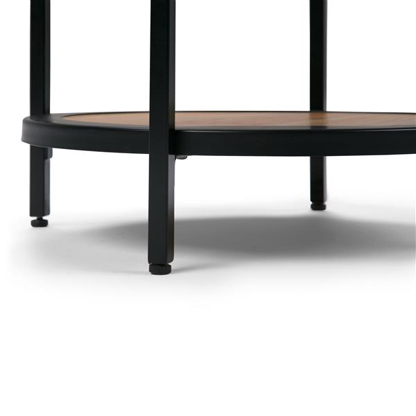 "Table d'appoint Jenna, rond, 18"" x 18"" x 24"", brun"