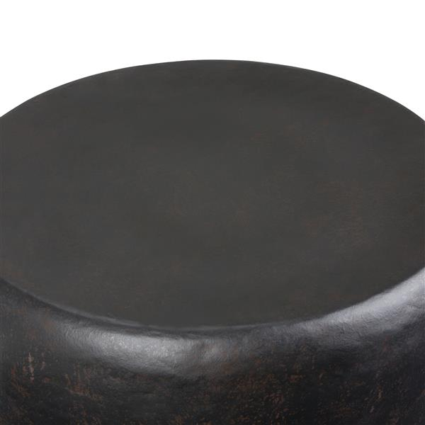 "Table d'appoint Garvy, rond, 20"" x 20"" x 22"", bronze"
