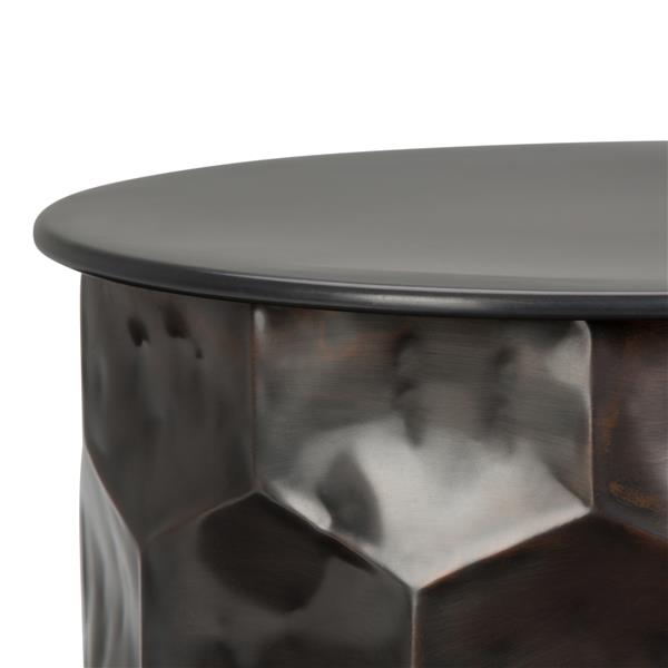 Simpli Home Whitney 17.2-in x 17.2-in x 19.5-in Bronze Side Table with Storage