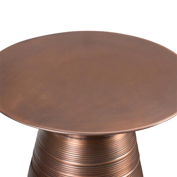 Simpli Home Sheridan 17.6-in x 17.6-in x 19.5-in Round Brown Accent Table