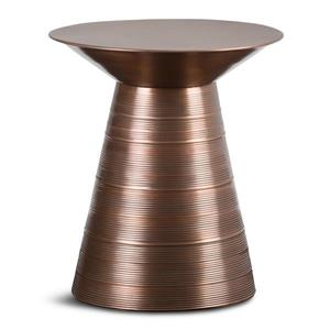 """Table d'appoint Sheridan, rond, 17,6"""" x 17,6"""" x 19,5"""", brun"""