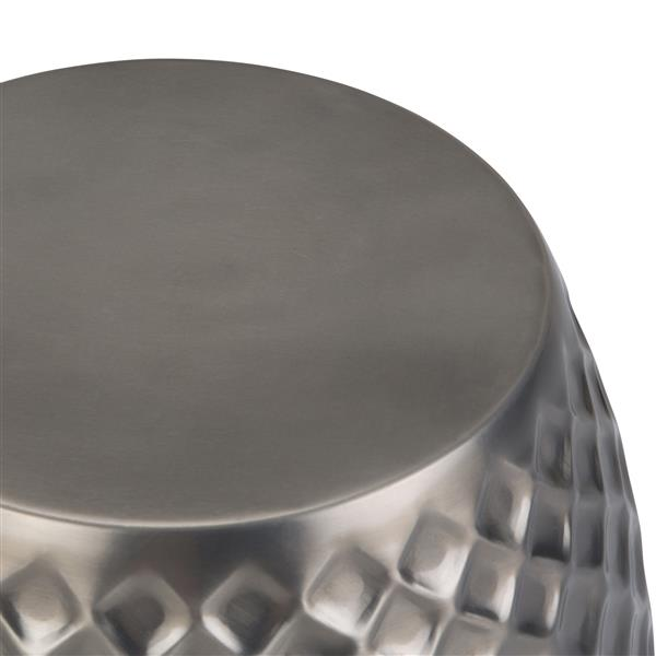 """Table d'appoint Ramey, rond, 15"""" x 15"""" x 18,25"""", silver"""