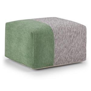 "Pouf carré Emmett, 24"" x 24"" x 14"", coton, vert"