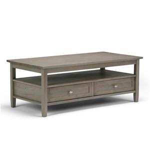 """Table à café Warm Shaker, 48"""" x 24"""" x 18,1"""", bois, gris"""