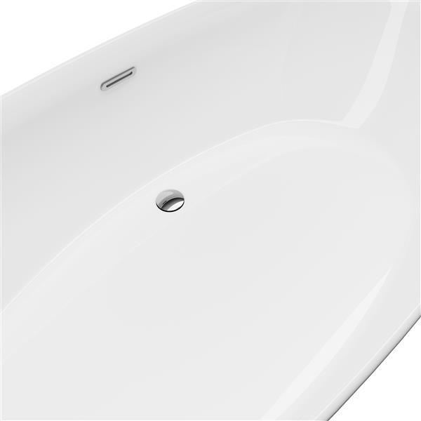 A&E Bath & Shower Sequana Freestanding Bathtub - 71-in - Glossy White