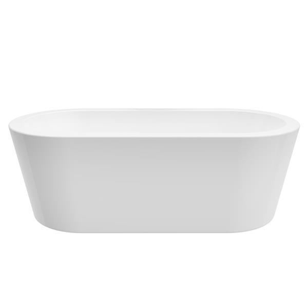 Bain autoportant Una-NF de A&E Bath & Shower, 71 po, blanc
