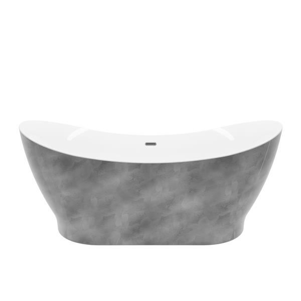 a&e bath & shower a&e bath and shower tundra 66-in silver leaf