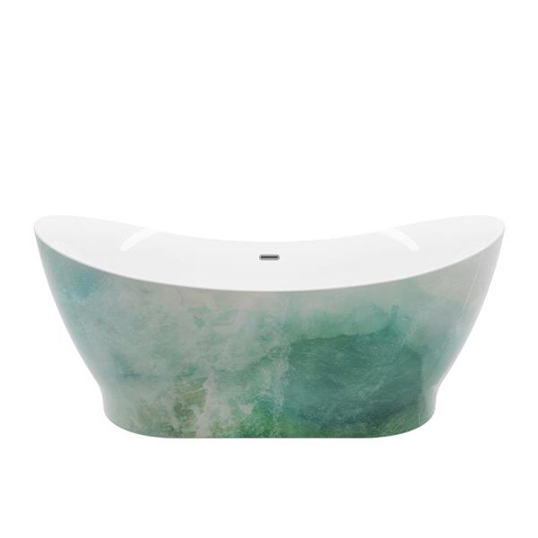 A&E Bath & Shower Tundra Freestanding Bathtub - 66-in - Glossy White