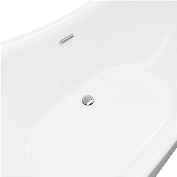 A&E Bath & Shower Salacia-NF Freestanding Bathtub - 65-in - White