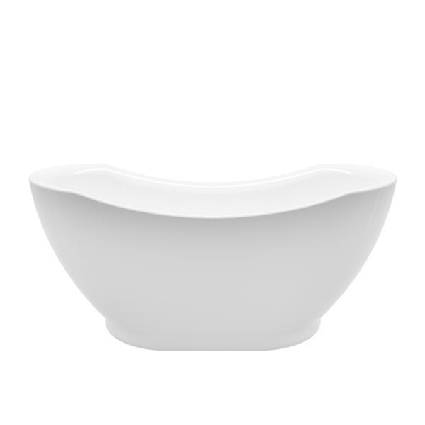 A&E Bath & Shower Salacia Freestanding Bathtub - 67-in - Glossy White