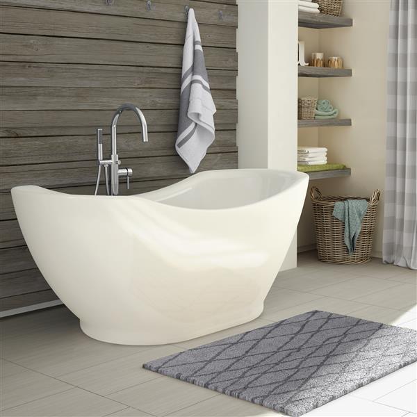 Baignoire autoportante sur pieds Salacia A&E Bath & Shower, 67 po, blanc lustré