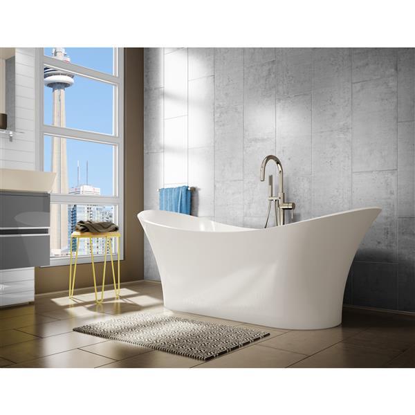 Baignoire autoportante sur pieds A&E Bath & Shower, 69 po, blanc lustré