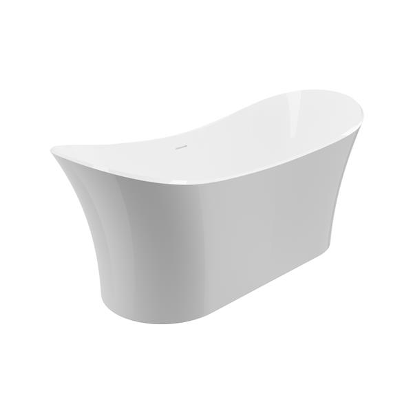 A&E Bath & Shower Freestanding Clawfoot Bathtub - 69-in - Glossy White
