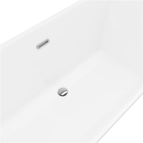 Baignoire autoportante Abzu A&E Bath & Shower , 67 po, blanc lustré