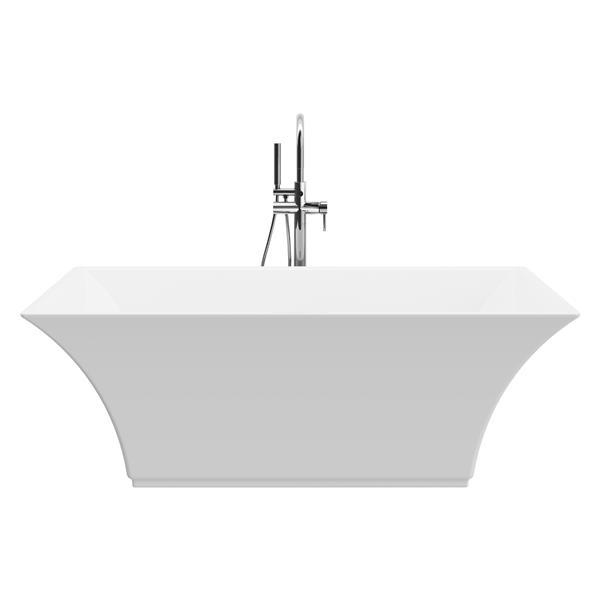 A&E Bath & Shower Abzu Freestanding Bathtub - 67-in - Glossy White