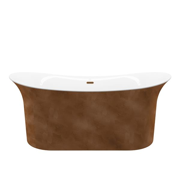 A&E Bath & Shower Freestanding Bathtub - 66-in - Copper