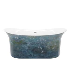 A&E Bath & Shower Hand Painted Freestanding Bathtub - 66-in - Copper