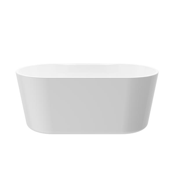A&E Bath & Shower Sorel Freestanding Bathtub - 62-in - Glossy White