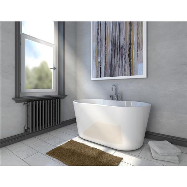 A&E Bath & Shower Retro-NF Freestanding Bathtub - 56-in - White