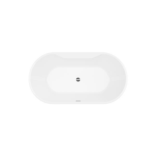 A&E Bath & Shower Sorel Freestanding Bathtub with faucet - 62-in - White