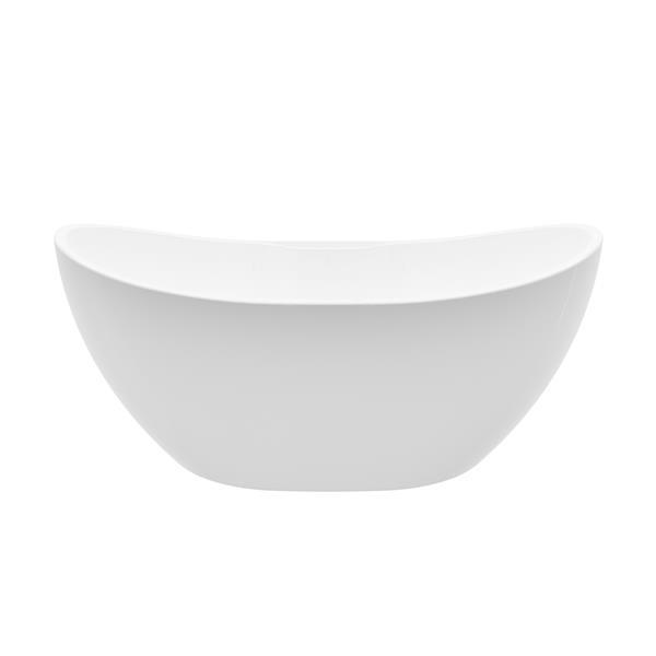 A&E Bath & Shower Freestanding Clawfoot Bathtub - 69-in - Glossy White