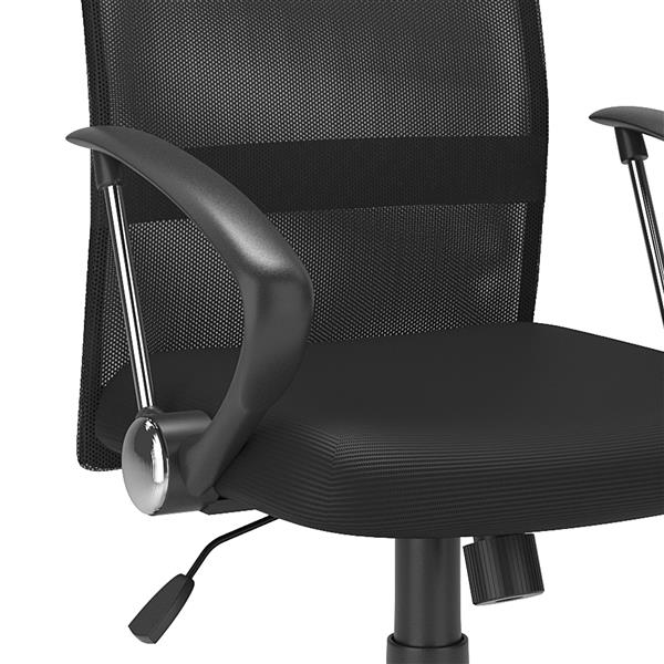 CorLiving 20.00-In x 19.00-In Contoured Black Mesh Back Office Chair