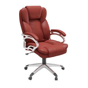 Core Living 22.50-In x 21.00-In Red Leatherette Executive Office Chair