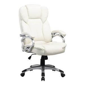 Core Living 27.50-In x 21.00-In White Leatherette Executive Office Chair