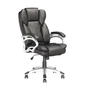 Chaise de bureau exécutive en similicuir, noir