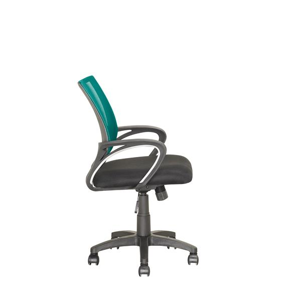 CorLiving 18.50-In x 18.25-In Contoured Teal Mesh Back Office Chair