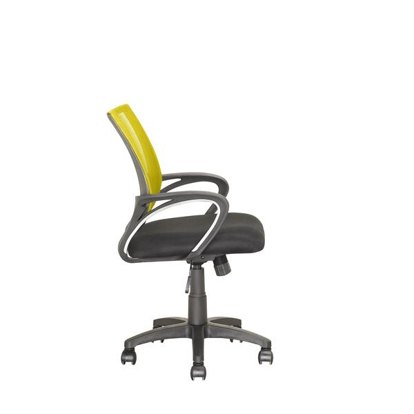 CorLiving 18.50-In x 18.25-In Contoured Yellow Mesh Back Office Chair