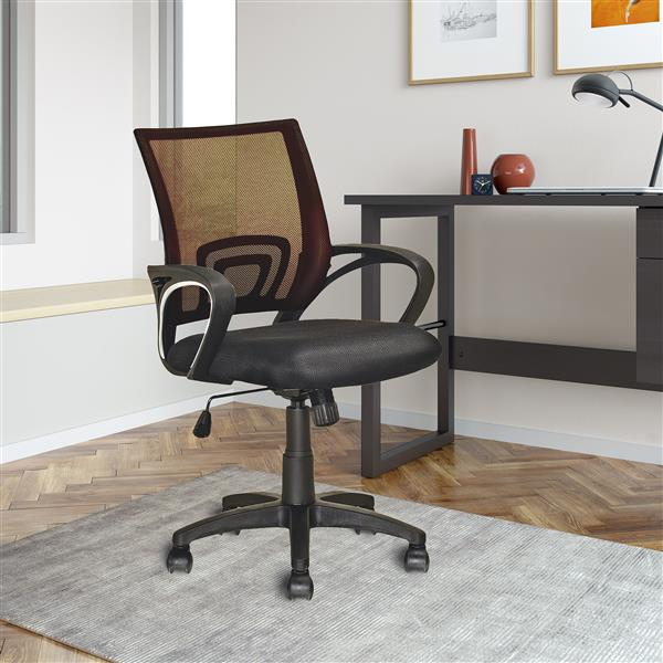 CoreLiving 22.00-in x 18.25-in Dark Brown Mesh Back Office Chair