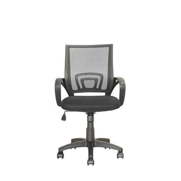 Chaise de bureau avec dossier en mailles, gris foncé