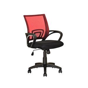 Chaise de bureau avec dossier en mailles, rouge