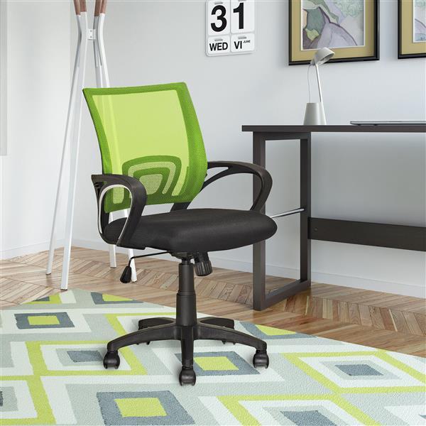 Chaise de bureau avec dossier en mailles, vert lime