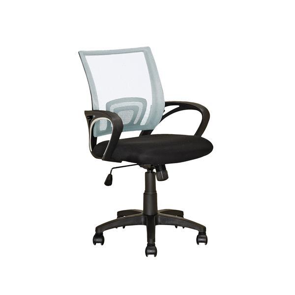 Chaise de bureau avec dossier en mailles, blanc