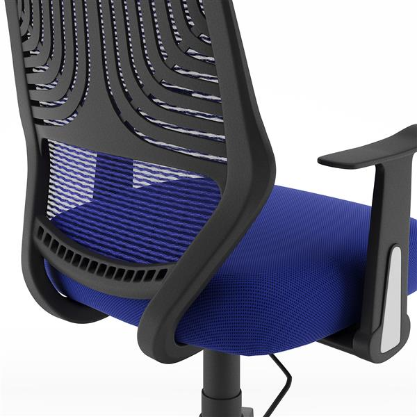 CoreLiving 22.00-in x 19.00-in Blue Mesh Back Office Chair