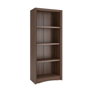 CorLiving Quadra Tall Bookcase 24 x 59-in Faux Woodgrain Finish Walnut