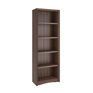 CorLiving Quadra Tall Bookcase 24 x 71-in Faux Woodgrain Finish Walnut
