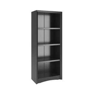 CorLiving Quadra Tall Bookcase 24 x 59-in Faux Woodgrain Finish Black