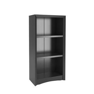 CorLiving Quadra Tall Bookcase 24 x 47-in Faux Woodgrain Finish - Black