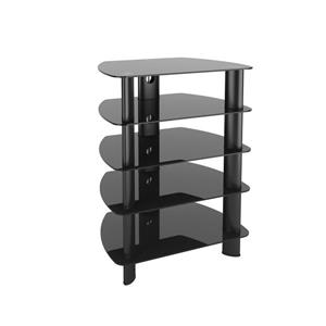 Laguna Stand with Glass Component - Satin Black
