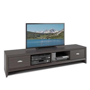 Meuble de télé Lakewood extra-large, fini wengé moderne
