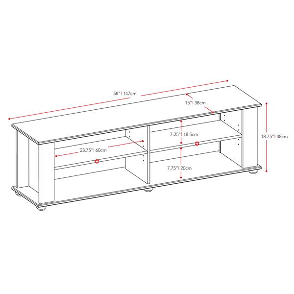 CorLiving Fillmore Ravenwood Black TV Stand for TVs up to 68 inches