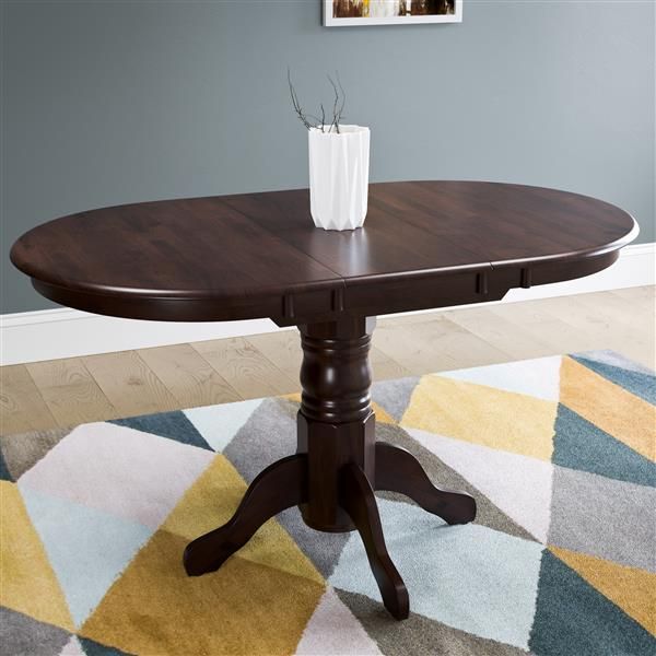CorLiving Dillon Extendable Oval Dining Table with Butterfly Leaf