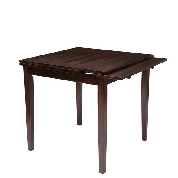 """Table extensible Dillon avec 2 rallonges de 8"""", cappuccino"""