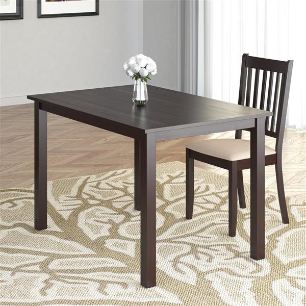CorLiving Atwood 28-in x 43-in Cappuccino Stained Dining Table